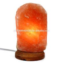 Naturale himalayano rock lampada di sale 9-12 £ con base in legno