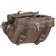 motorcycle saddle bags brown leather saddle bags
