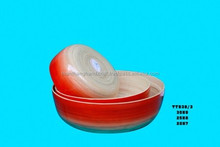 New design eco-friendly set of 3 red and natural bamboo bowls
