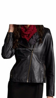 2015 FASHION STYLISH EXQUISITE AND TRENDY LEATHER BIKER JACKET FOR WOMEN