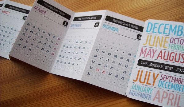 Handmade Calendar Designs : Custom made desk calendar design buy small pocket