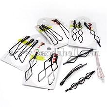 Mixed estilos Salon Grips acessórios de cabelo das mulheres planície ferro preto cabelo grampos preto OHAR-L001-M