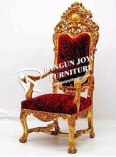 Antique royal fabric throne chair for sale