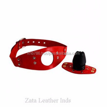 Sex Products Mouth Gagged Solid Color Red Ball Horse Passion Flirt Open Mouth Gags PU Leather Sex Toys, sex toys