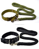 Pet Puppy 8 rope weaving Controlling fit large Dog collar and leashes set 53