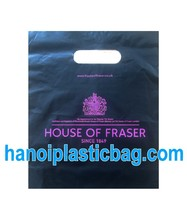 HOT PROMOTION FOR PUNCH OUT / DIE CUT HANDLE PLASTIC BAG IN VIETNAM