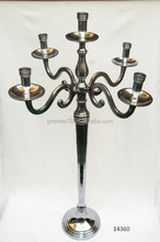 Metal Candelabra Decor Candle Stand Aluminium 5 Lite Candle Stick