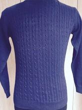 Enzyme Washed Indigo Sweater