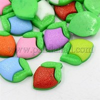 Mixed Color Camellia Flower Acrylic Flatback Cabochons Fit DIY Phone Decorations, Dyed, 23x16x5mm