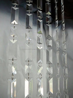 EMERALD CUT ACRYLIC CRYSTAL BEADED CURTAIN