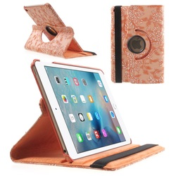 Smart Sleep and wake Function Rotary Stand Leather Smart Cover for iPad Mini 4