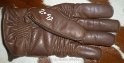 Top quality genuine leather cow hide leather Motorbike racing gloves