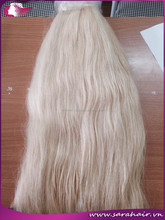 Wholesale supply virgin human ash blonde hair weaves,28 30 32 34 36 38 40 inches blonde human hair