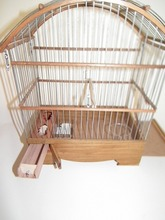 Pet Bird Authentic Wooden Small Cage