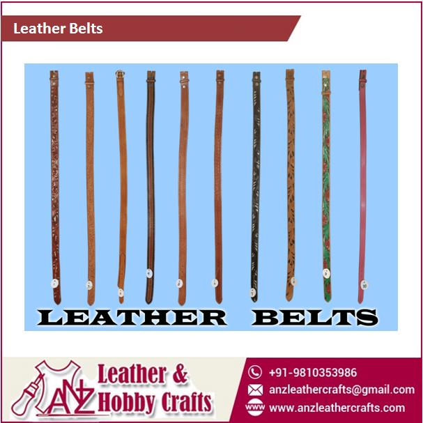Custom Sized,Design And Color Leather Belts At Best Price ...