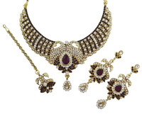 CZ Stone Designer Jewellry Necklace Set Wedding Jeweler Indian Bridal Sets -BNS7893A