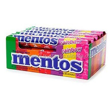 Mentos Candy Rainbow Roll / Wholesale Mentos Candy / Perfetti Van Melle Candy
