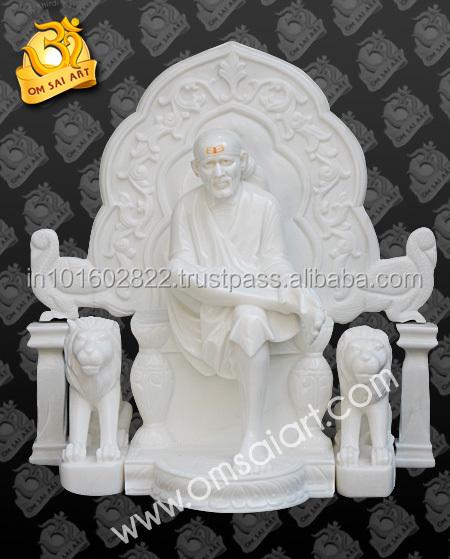 Sai Baba Moorti With Singhasan Buy Sai Baba Moorti