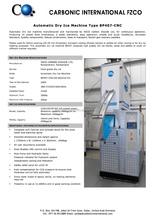 Swiss Make Food Grade Dry Ice Production Machine