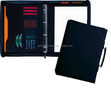 High End Customized Genuine Leather Ring Binder