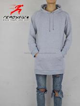 plain elongated swetshirt wholesale plain blank long hoodie sweaters - sweatshirts - Hoodies -