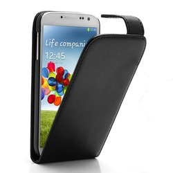 Classic Magnetic Vertical Flip Leather Case for Samsung Galaxy S 4 IV i9500 i9502 i9505