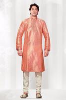 Dupioni Raw Silk Fabric Kurta Pyjama