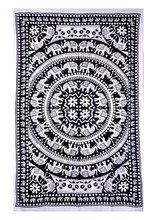 Flower Elephant Print Mandala Indian Tapestry Wall Hanging Hippy Bohemian Tapestries tightly loomed fabric Home decor.