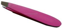 """small slanted eyebrow tweezers/pink mini tweezers 3.5"""" with guaranteed quality"""