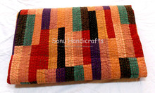 Silk Patola Patchwork Kantha Quilts Bed Spread