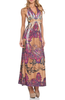 LD'S SUBLIMATION PRINTED HALTER MAXI DRESS