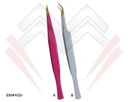 Attractive Tweezers Golden Tip Straight & Curved Tweezers For Lashes Tweezers With Custom Logo & Packing