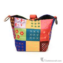 Silk bag, handicraft in Vietnam
