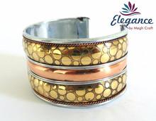 Wholesale Indian fashion cuff bracelets Metal bangles -brass bracelets-Wholesale Indian costume cuff bracelets