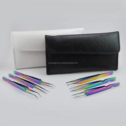 Eyelash Extension Six Tweezers Set Curve Tip, 45 Degree Short Angle, Mini Straight, Lady Angular And Volume Tweezer
