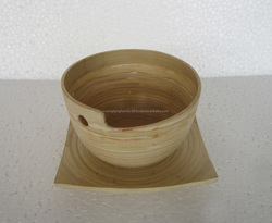 Big size spun salad bamboo bowl from Vietnam, eco friendly safe for healthy cheap price