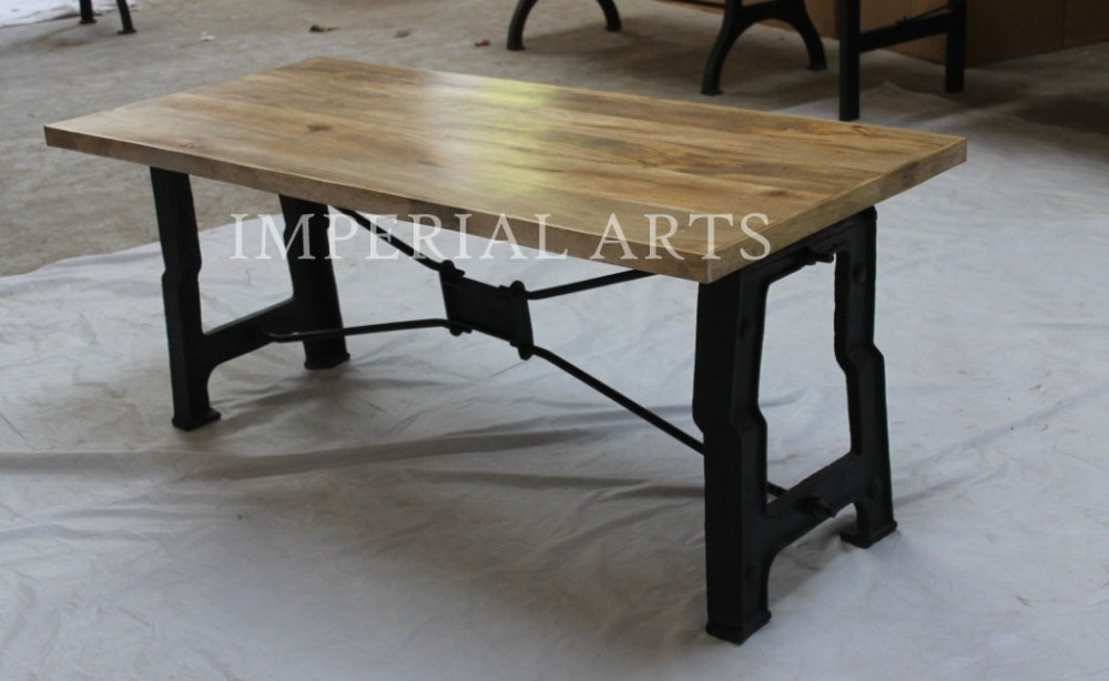 Indian Furniture Industrial Iron And Mango Wood Dining