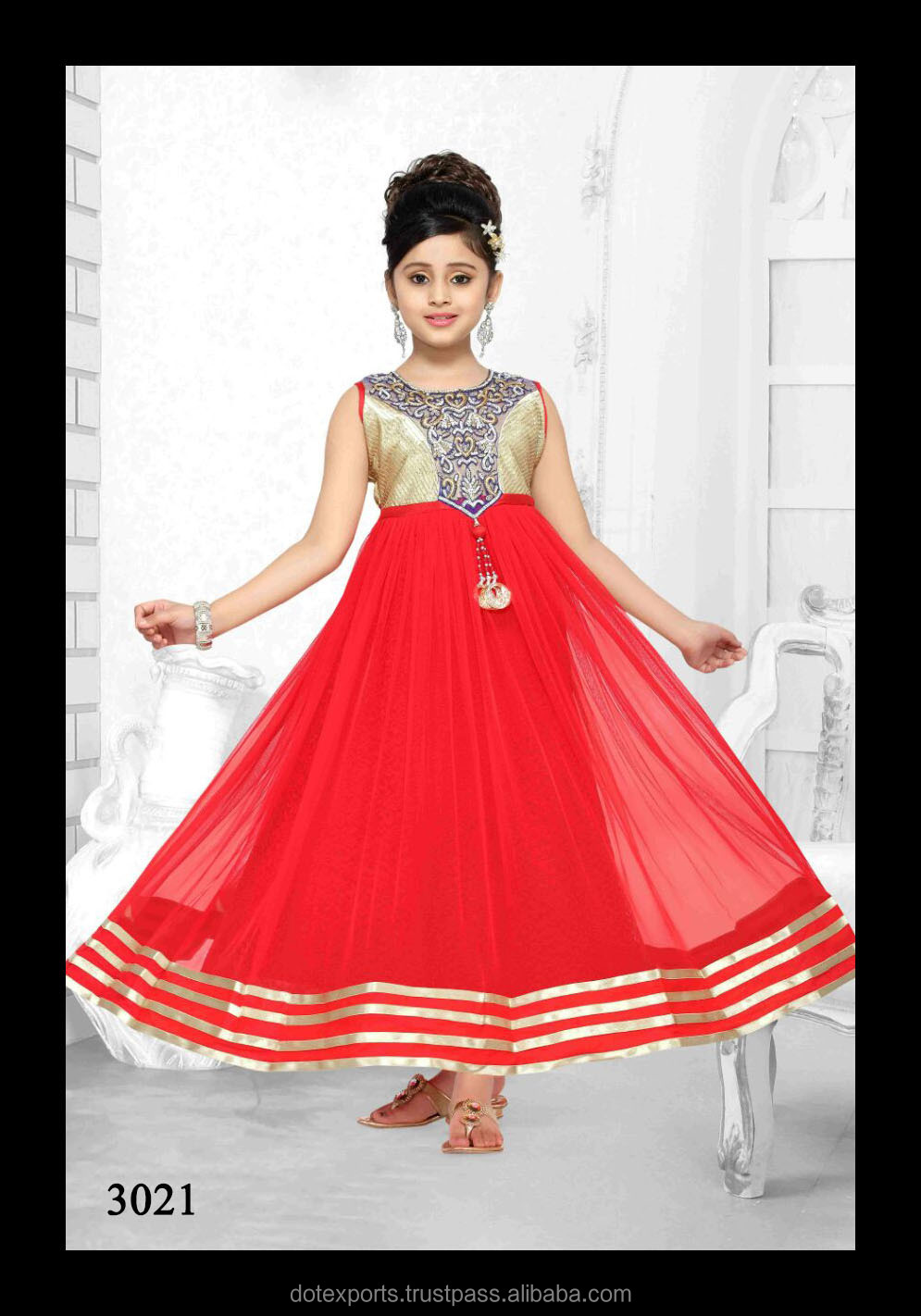 Evening Gown/frock Designs For Kids - Buy Kids Evening Gowns,Designs ...