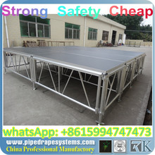 Portable aluminum stage! Easy assembly! Easy move!