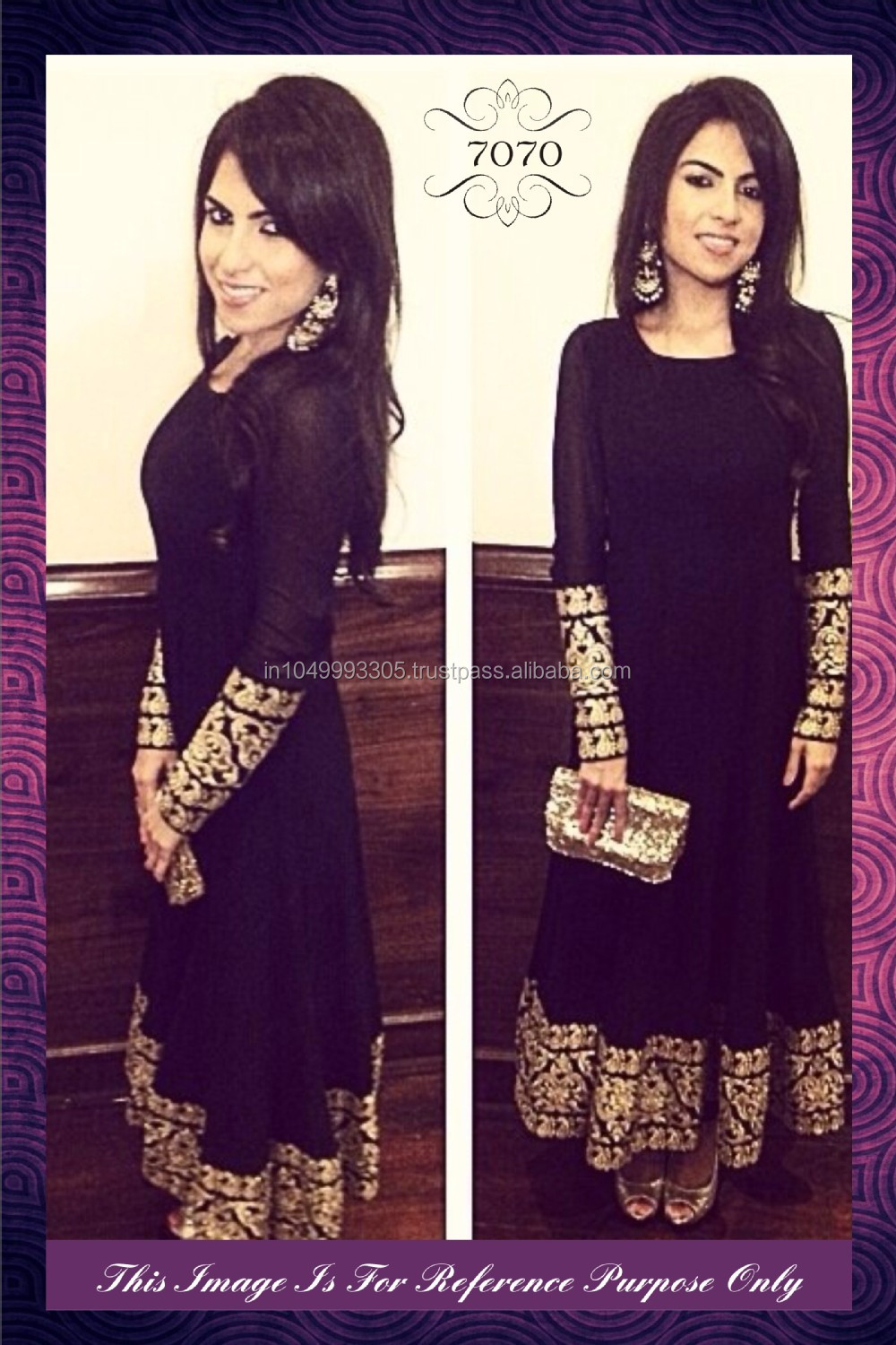 exclusive ethnic indian latest black color bollywood
