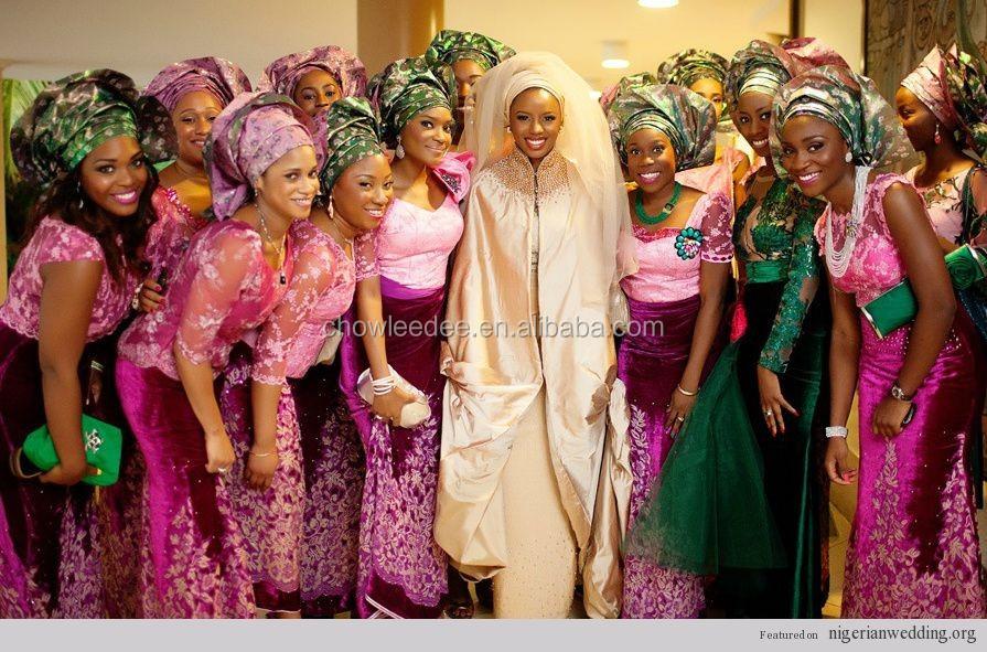 Latest African Wedding Nigerian Beads Jewelry Sets Yellow