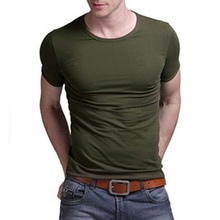 Latest Design/popular plain o-neck t-shirt for men/2016