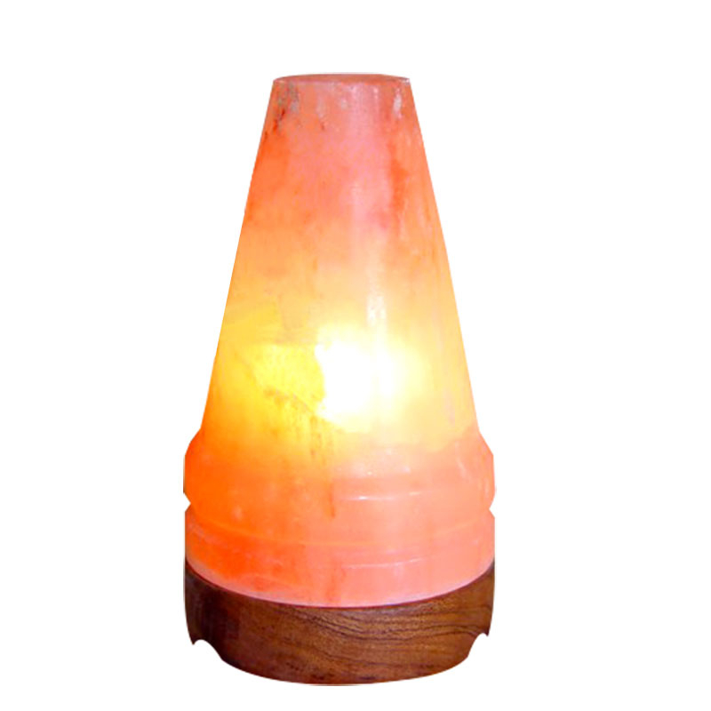 Himalayan Natural Cone Shape Salt Lamp with Air Purifying Benefits