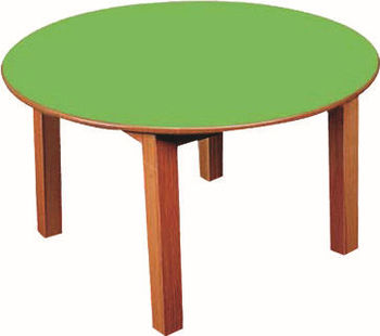 Round Table mdf Table wood Leg polishedwithout Chair Eoo