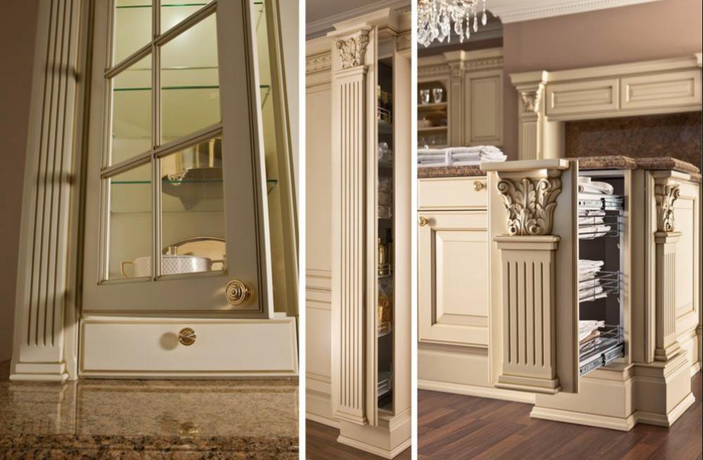 moderni in legno massello mobili da cucina, armadi da cucina di ... - Cucina Di Design Armadio Di Lusso