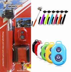 Extendable Selfie Stick Handheld Monopod +Remote Shutter Control +Phone holder for Android Phones