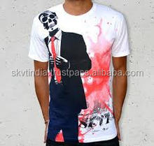 120 grams Promotional Stock Cheap Cotton Tshirts t shirt promotional