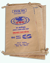 3 layers kraft paper cement bag