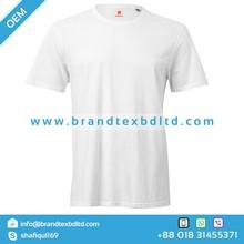 High Quality fashion latest designs white color solid short sleeve round neck Tshirt wholesale Bangladesh Custom Design 2015