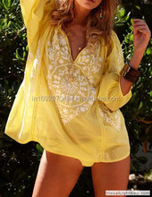 fashion lady beachwear swimwear tunic top